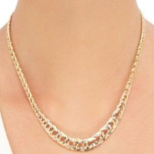 GRADUATED OPEN LINK 14K GOLD  NECKLACE